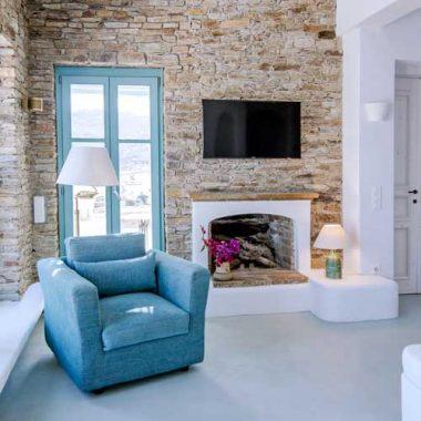 Living Room Magganari Villa Ios Island