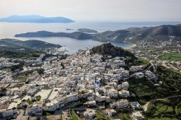 Chora from above on Ios Island